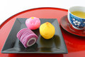 Japanese sweets Royalty Free Stock Photo