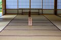 Japanese tatami room Royalty Free Stock Photo