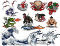 Japanese tattoo design Royalty Free Stock Photography