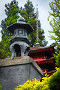 Japanese tea garden pagoda in san francisco california usa Royalty Free Stock Image