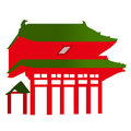 Japanese Temple Entrance - Vector Royalty Free Stock Photos