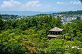 Japanese Temple and Forest Royalty Free Stock Photography