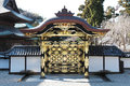 Japanese Temple Front Gate Royalty Free Stock Photo