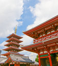 Japanese temple roof Stock Image