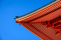 Japanese temple roof detail from nara kyoto area japan Royalty Free Stock Photos