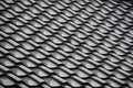 Japanese temple roof tiles Royalty Free Stock Photo