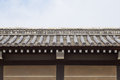 Japanese temple roof and wall Royalty Free Stock Photo