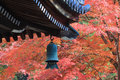 Japanese temple s roof of nanzen ji kyoto Stock Images
