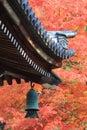 Japanese temple s roof of nanzen ji kyoto Royalty Free Stock Photography