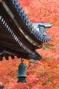 Japanese temple s roof of nanzen ji kyoto Stock Photography