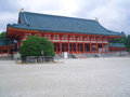 Japanese temple with traditional roof Stock Photo