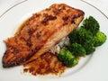 Japanese Teriyaki Salmon Royalty Free Stock Image