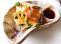 Japanese tofu salad dish Royalty Free Stock Images