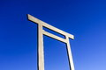 Japanese Torii on blue sky Royalty Free Stock Images