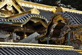 Japanese traditional architecture golden roof det temple detail nikko japan Stock Images