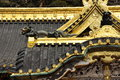 Japanese traditional architecture golden roof det temple detail nikko japan Stock Photo