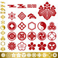 Japanese traditional elements set Royalty Free Stock Image