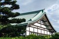 Japanese traditional house in a park of Tokyo Royalty Free Stock Photo