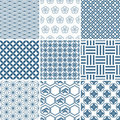 Japanese traditional pattern set Royalty Free Stock Photo