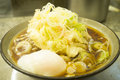Japanese traditional ramen with boiled egg Stock Photo