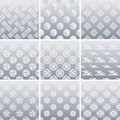Japanese traditional silver pattern Stock Image