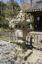 Japanese traditional stone lantern in Kamakura Stock Image