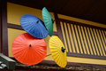 Japanese traditional umbrella Royalty Free Stock Photo