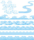 Japanese traditional wavess