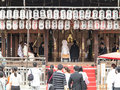 Japanese traditional wedding ceremony at temple Stock Image