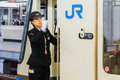 Japanese Train Conductor Stock Images