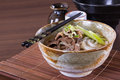 Japanese udon noodles cuisine thick wheat Royalty Free Stock Photo