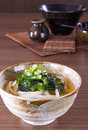 Japanese udon noodles cuisine thick wheat Stock Photo