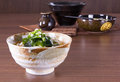 Japanese udon noodles cuisine thick wheat Stock Photography