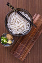 Japanese udon noodles cuisine thick wheat Stock Image