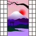 Japanese window Royalty Free Stock Photo
