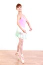 Japanese woman dances ballet concept shot of young womans lifestyle Royalty Free Stock Image