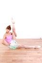 Japanese woman dances ballet concept shot of young womans lifestyle Stock Images