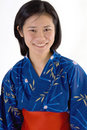 Japanese woman in kimono Royalty Free Stock Photos