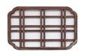 Japanese wood window frame isolated Royalty Free Stock Photo