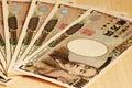 The Japanese yen Royalty Free Stock Photo