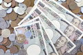 Japanese yen background photo of Stock Photo