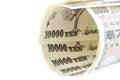 Japanese yen cash on isolated background Stock Photo