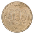 Japanese yen coin Royalty Free Stock Photo