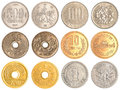 Japanese Yen coins collection Royalty Free Stock Photo