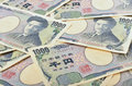Japanese yen heap of money background Royalty Free Stock Photo