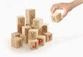 Japanese yen money concept on isolated. Royalty Free Stock Photo