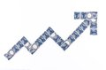 Japanese yen stock chart note symbol on a white background Royalty Free Stock Images