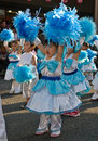 Japanese young children Festival Dancers Royalty Free Stock Image
