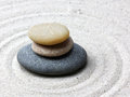 Japanese zen garden meditation stone Royalty Free Stock Photo