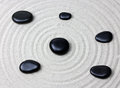 Japanese zen garden meditation stone... Royalty Free Stock Photo